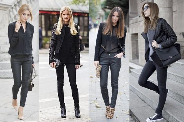 stilettos negros outfits